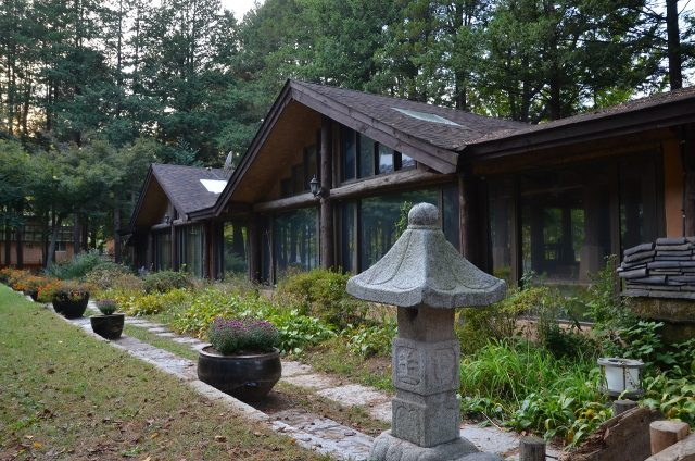 a traditional building in Nami Island